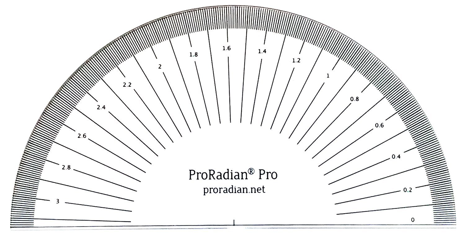 Amazon Proradian Pro Radian Scale Protractor Educational And