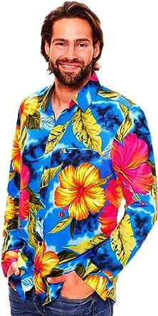 Original King Kameha | Funky Camisa Hawaiana Señores | XS-6XL |Manga Larga Bolsillo Delantero | impresión De Hawaii| Florón: Amazon.es: Ropa y accesorios