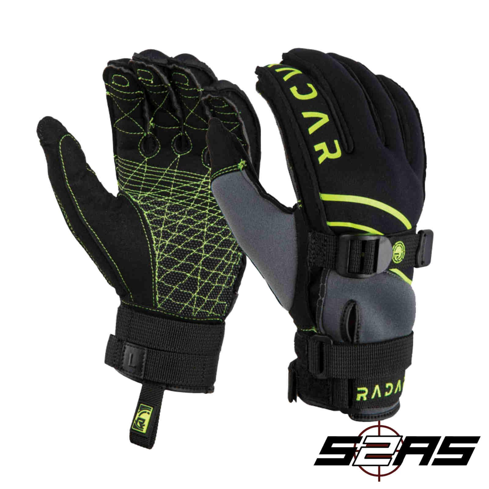 Radar Ergo A Inside-Out Waterski Glove Black (XL) by Radar