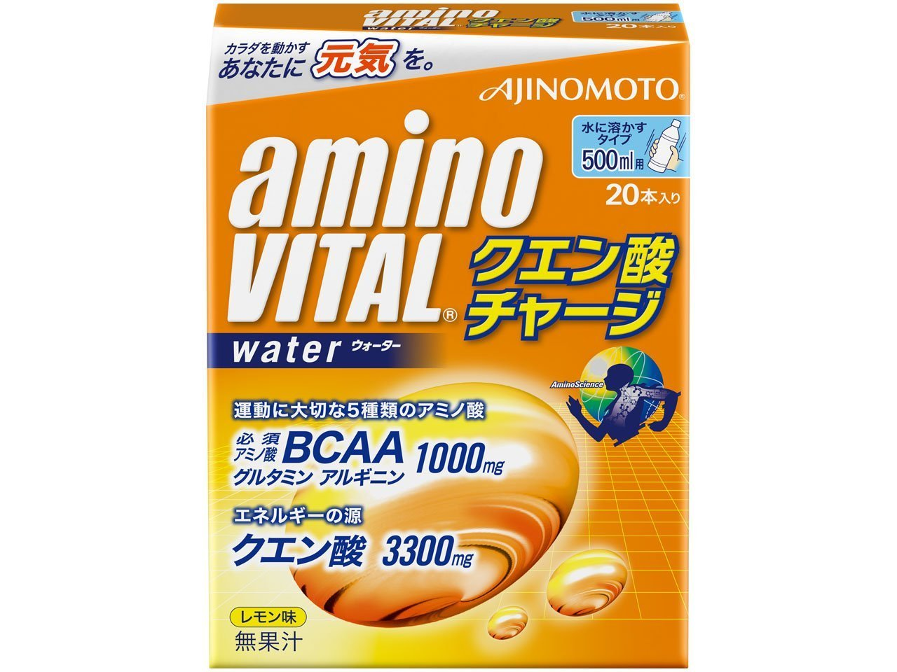 味の素 アミノバイタル クエン酸チャージウォーター20本入箱 product image
