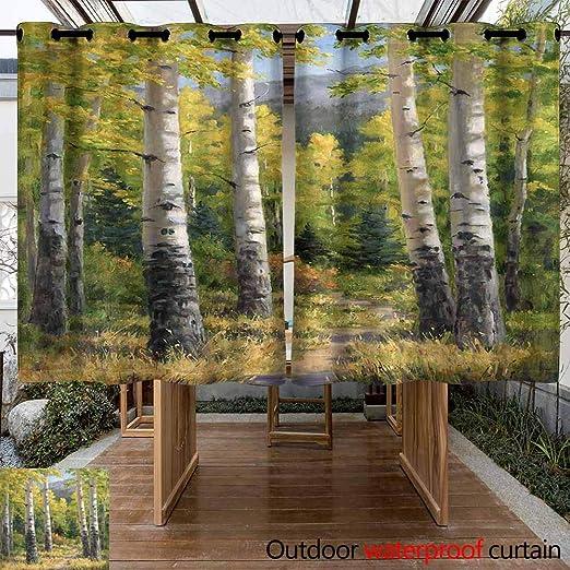 VIVIDX - Cortinas para Exteriores – Cortina de Porche para decoración de jardín, Resistente al Agua, Cortinas para pergola/Patio/toldo, 2 Piezas: Amazon.es: Jardín