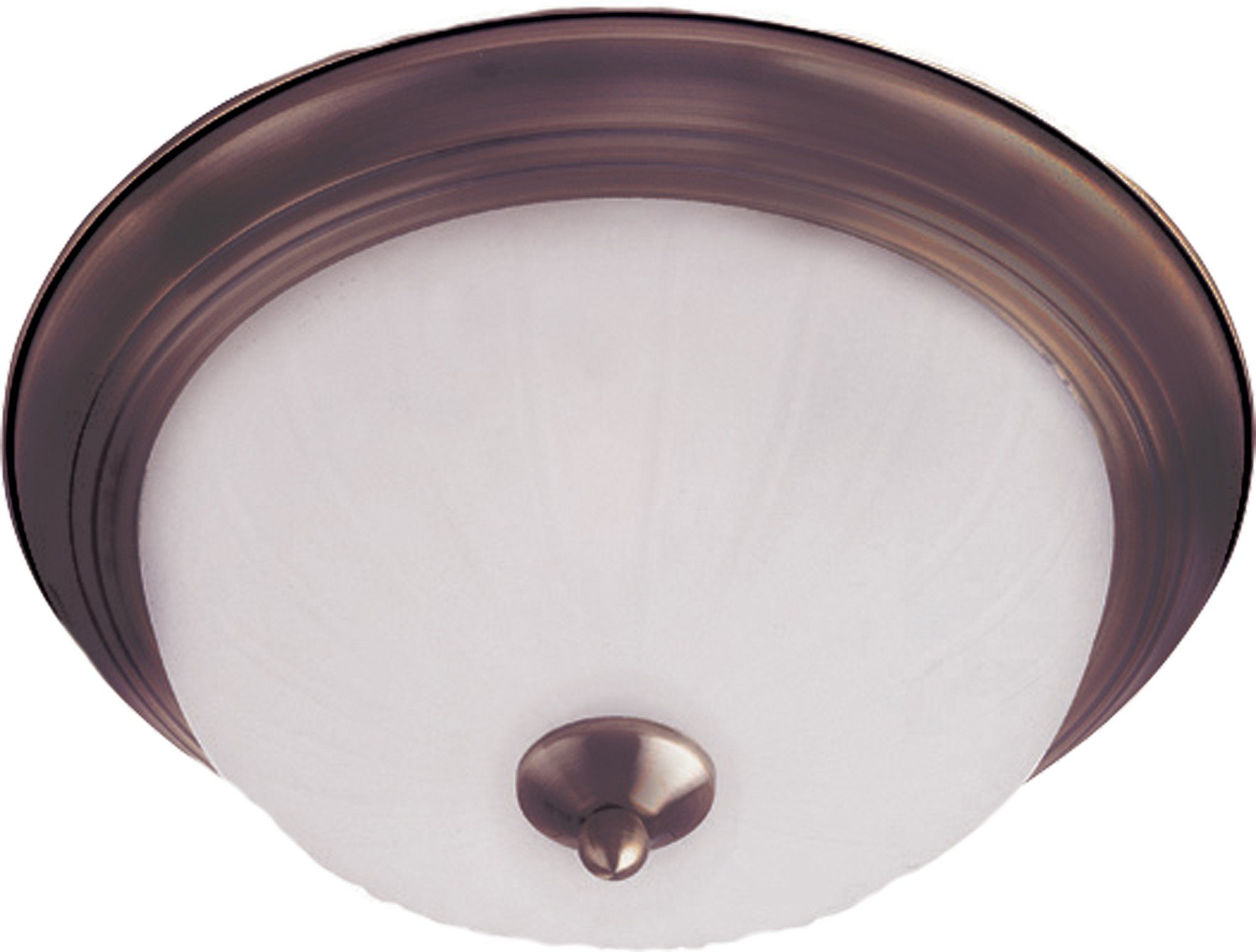 Maxim 5830FTOI Essentials 1-Light Flush Mount, Oil Rubbed Bronze Finish, Frosted Glass, MB Incandescent Incandescent Bulb , 13W Max., Dry Safety Rating, 2700K Color Temp, Glass Shade Material, 4500 Rated Lumens