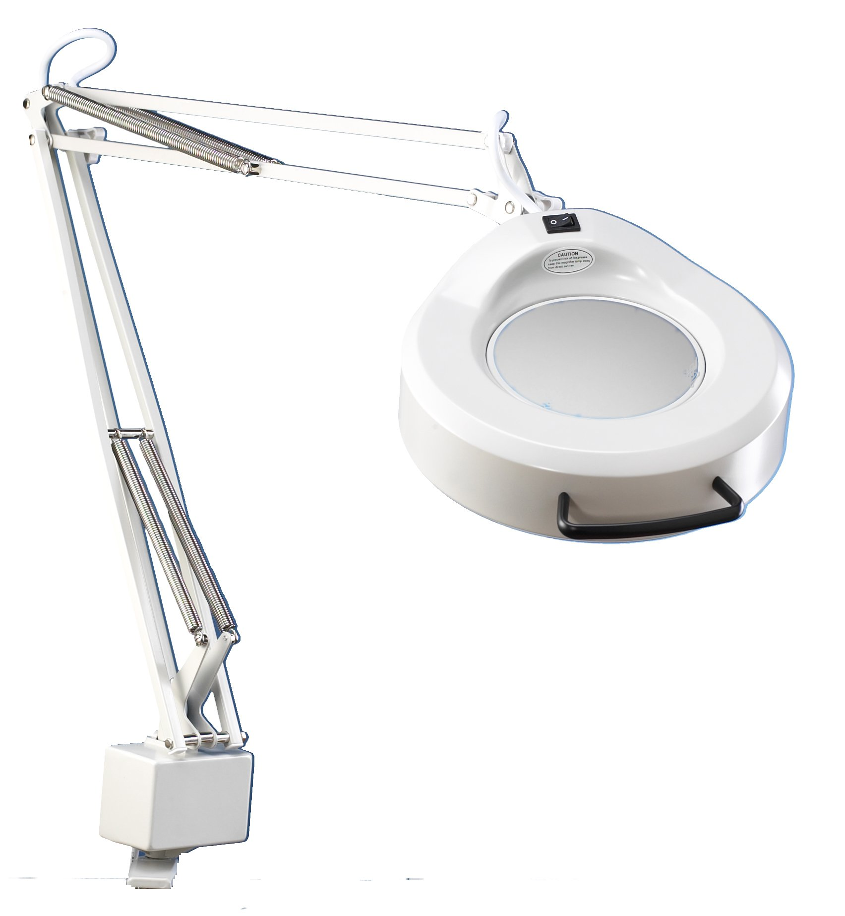 Luxo 16345LG IFM Magnifier, 45'' External Spring Arm, 3-Diopter, Edge Clamp, Light Grey