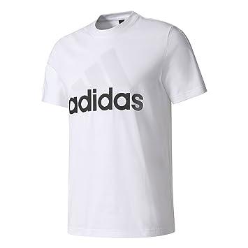 adidas ESS liner Tee for Man, White (White), XS