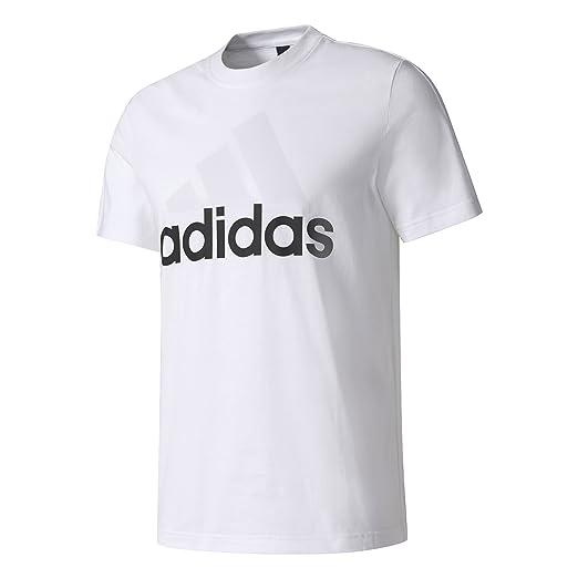69389f6ea adidas Men Running Tshirts Essentials Tee Training Gym White Work Out  S98730 (XXLarge)
