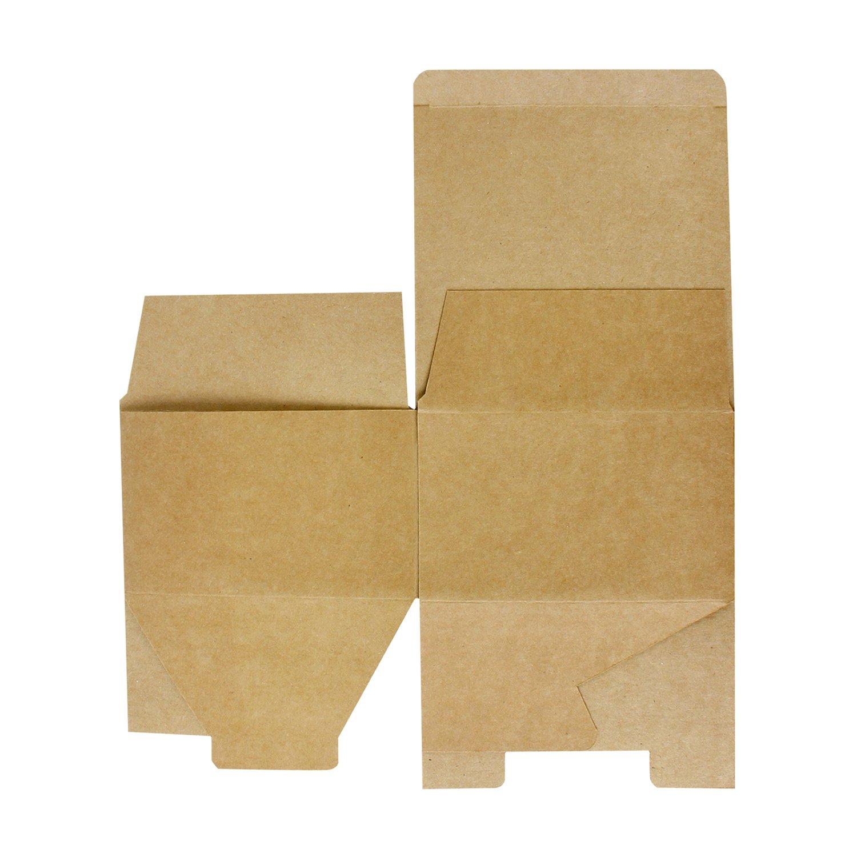 RUSPEPA Cajas De Regalo De Cartón 13 X 13 X 8 Cm, Paquete De 30 Cajas De Regalo Pequeñas Con Tapas Para Arte, Pastel Y Galletas (Kraft): Amazon.es: Hogar