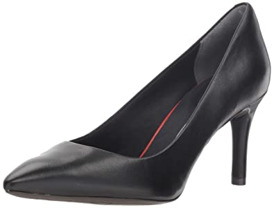 8e7494e70e83 Rockport Women s Total Motion 75mm Pointy Toe Pump Black Smooth Leather ...