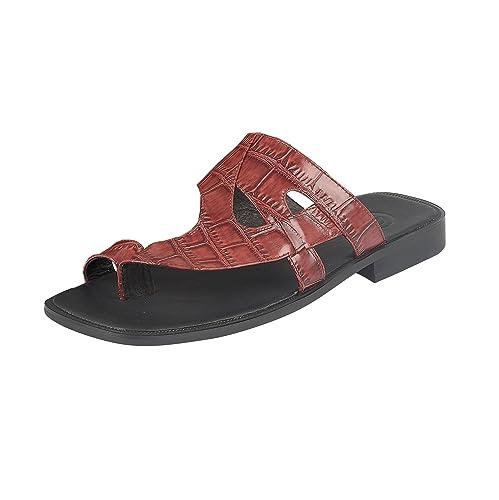 Para hombre italiano piel sandalias Casual verano playa sandalias zapatos talla, color Marrón, talla 43,5