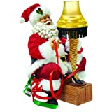 "Kurt Adler 9"" Santa with Leg Lamp Light-Up Tablepiece"