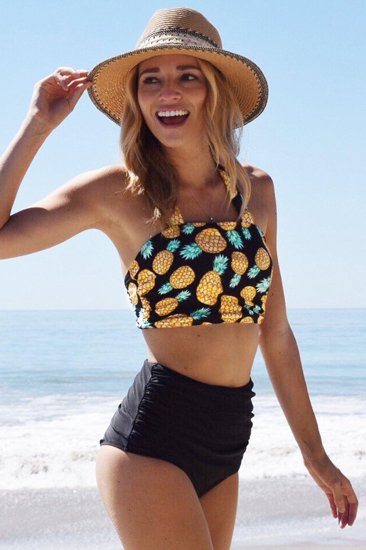 SEASELFIE Pineapple Printing Bikini Set