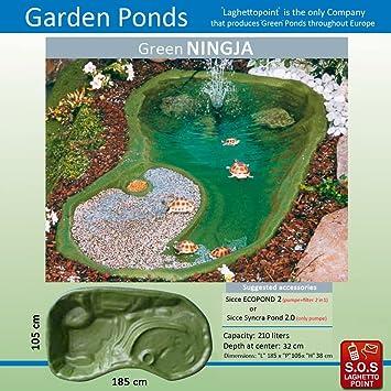 estanque para tortugas ningja verde x x cm capacidad lt
