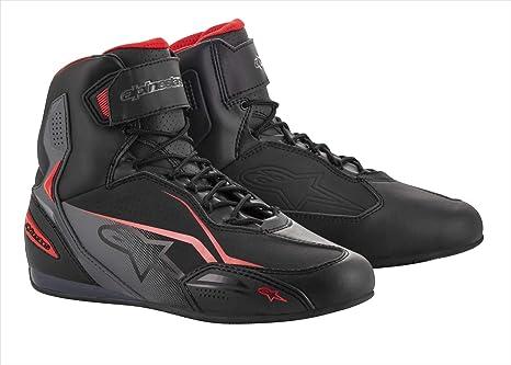 Alpinestars Stivali Moto Faster 3 Shoes Black Gray Red