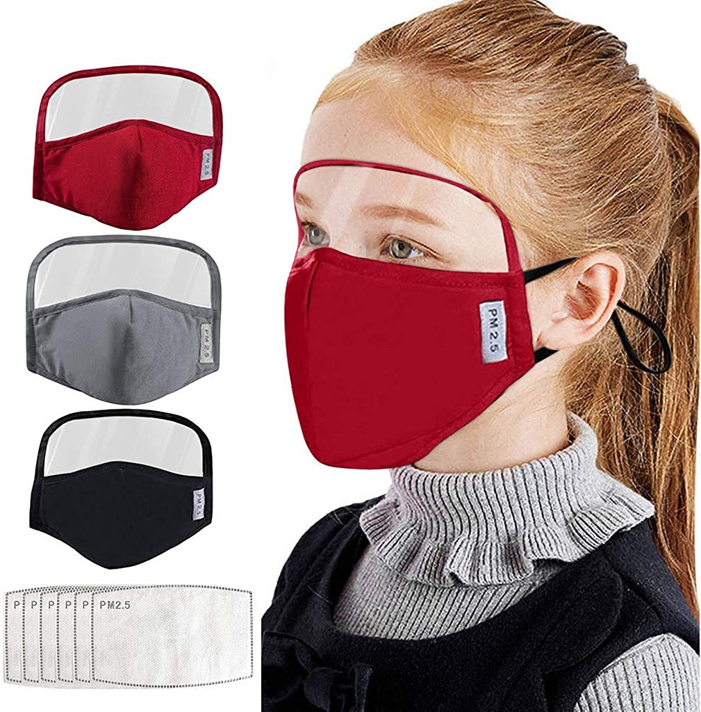 HUYURI Child Boy Or Girl 3PC Integrated With Goggles 6 PC Filter