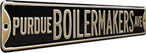 Authentic Street Signs Purdue Boilermakers Ave, Heavy Duty, Metal Street Sign Wall Decor, 36