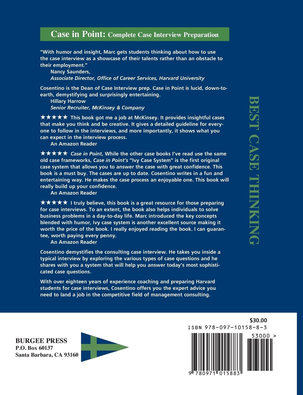 Case In Point: Complete Case Interview Preparation, 8th Edition by Burgee Press
