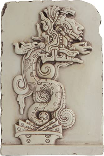 Culture Spot Mayan Serpent Spirit Realm in Stone Finish Wall Art Relief for Indoor Placement Yaxchilan, Mexico, Replica Home D cor is Ready to Hang 7.5 Inches Tall