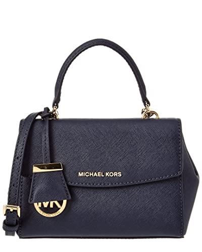 b55a8a55b1f1 Michael Kors Ava Extra-Small Saffiano Leather Crossbody (Admiral ...