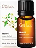 Gya Labs Neroli Essential Oil - Mood Calmer for Peaceful Sleep & Smooth, Hydrated Skin (10ml) - 100% Pure Natural…