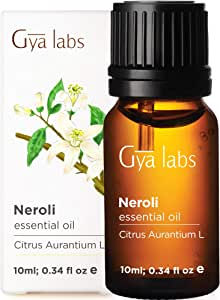 Gya Labs Neroli Essential Oil - Mood Calmer for Peaceful Sleep & Smooth, Hydrated Skin (10ml) - 100% Pure Natural Therapeutic Grade Neroli Oil Essential Oils for Aromatherapy Diffuser & Topical Use