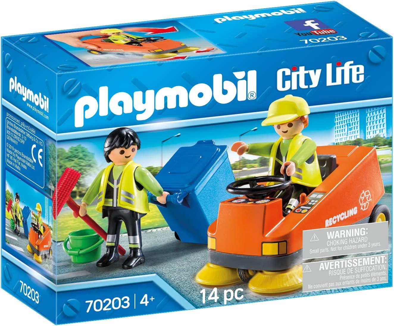PLAYMOBIL PLAYMOBIL-70203 City Vehículo Limpieza, Multicolor, Talla única (70203)
