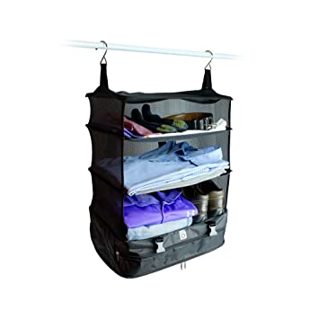 Exceptionnel Stow N Go Portable Luggage System Suitcase Organizer   Large, BLACK,  Packable