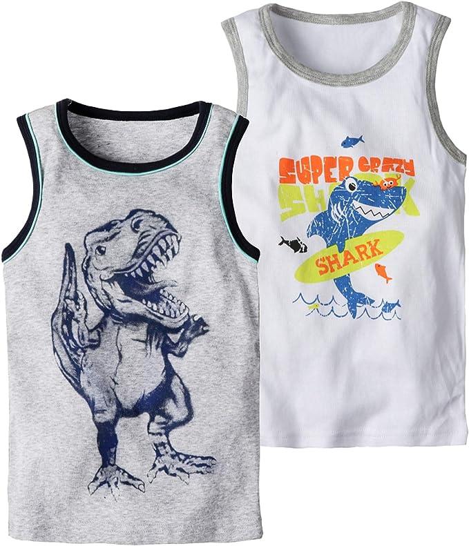 Coralup Little Boys Girls Unisex Tank Top Cami Shirts 3 Pack Tanks Set