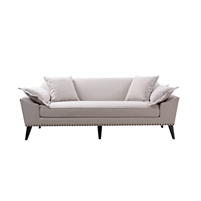 Jennifer Taylor Home 63400-3-888 Remington Sofa, Bone White