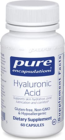 Pure Encapsulations Hyaluronic Acid | Supplement to Support Skin Hydration, Joint Lubrication, and Comfort* | 60 Capsules