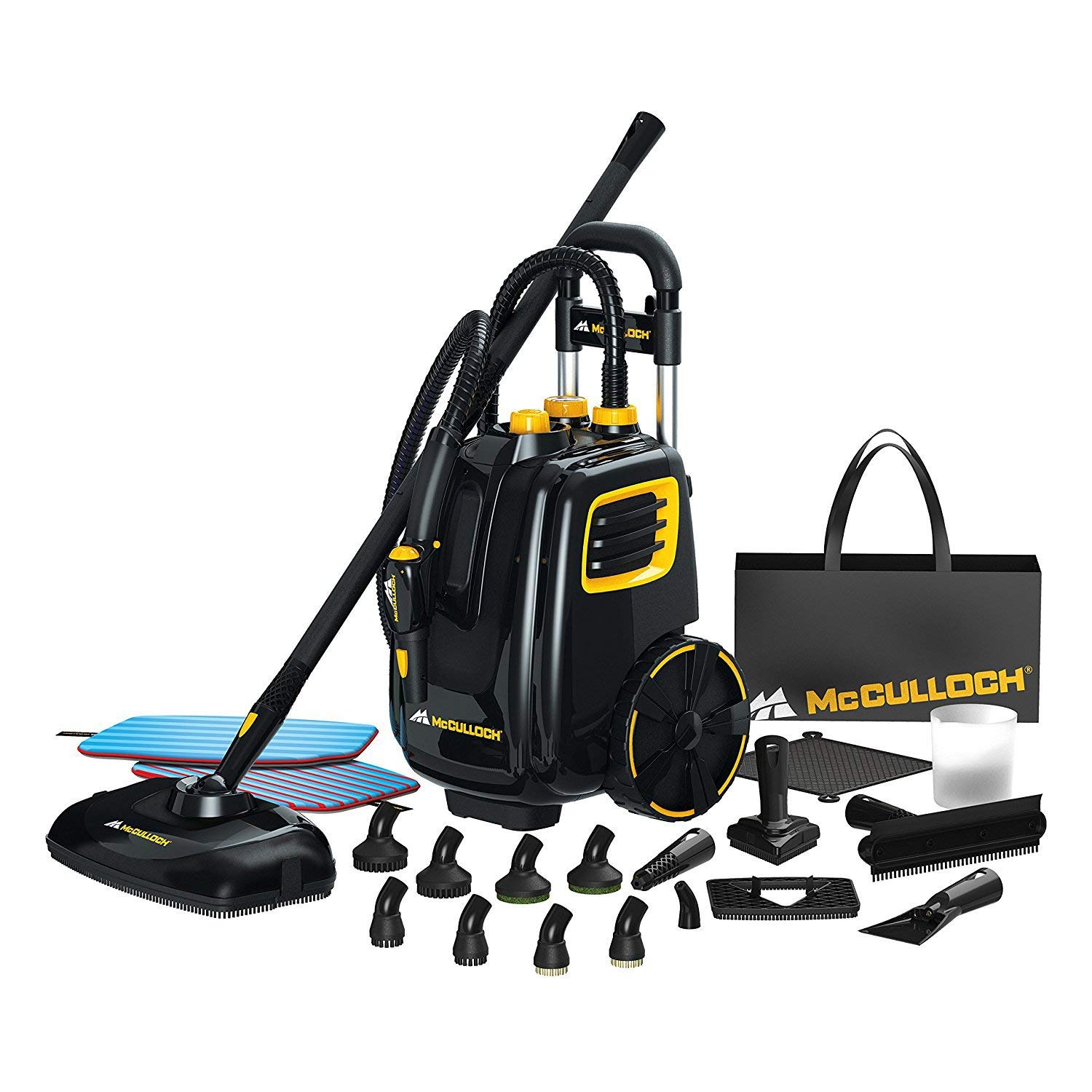 McCulloch Deluxe Canister Deep Clean Multi-Floor Steam Cleaner System (2) by McCulloch