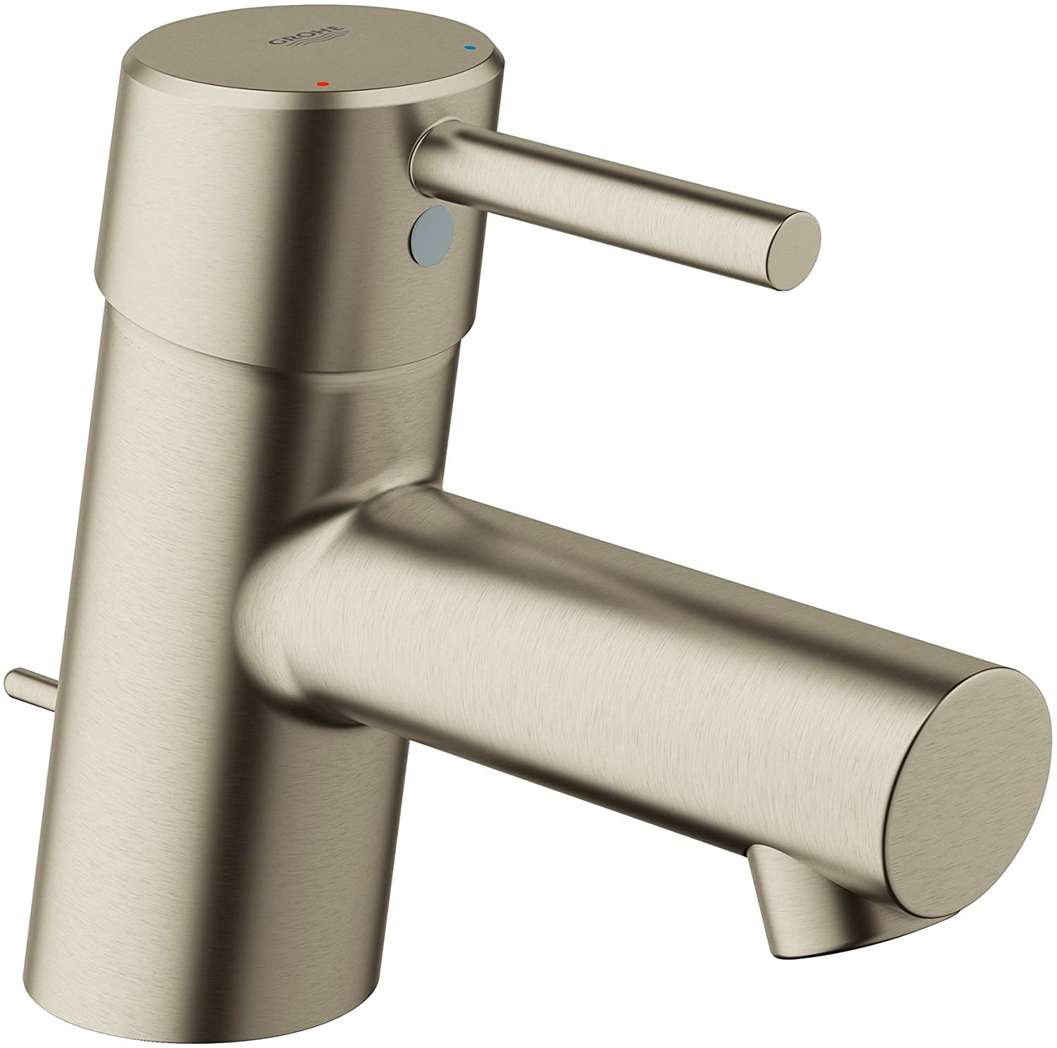 Grohe 34702EN1 Concetto Hole Single-Handle Bathroom Faucet with Drain Assembly in Brushed Nickel