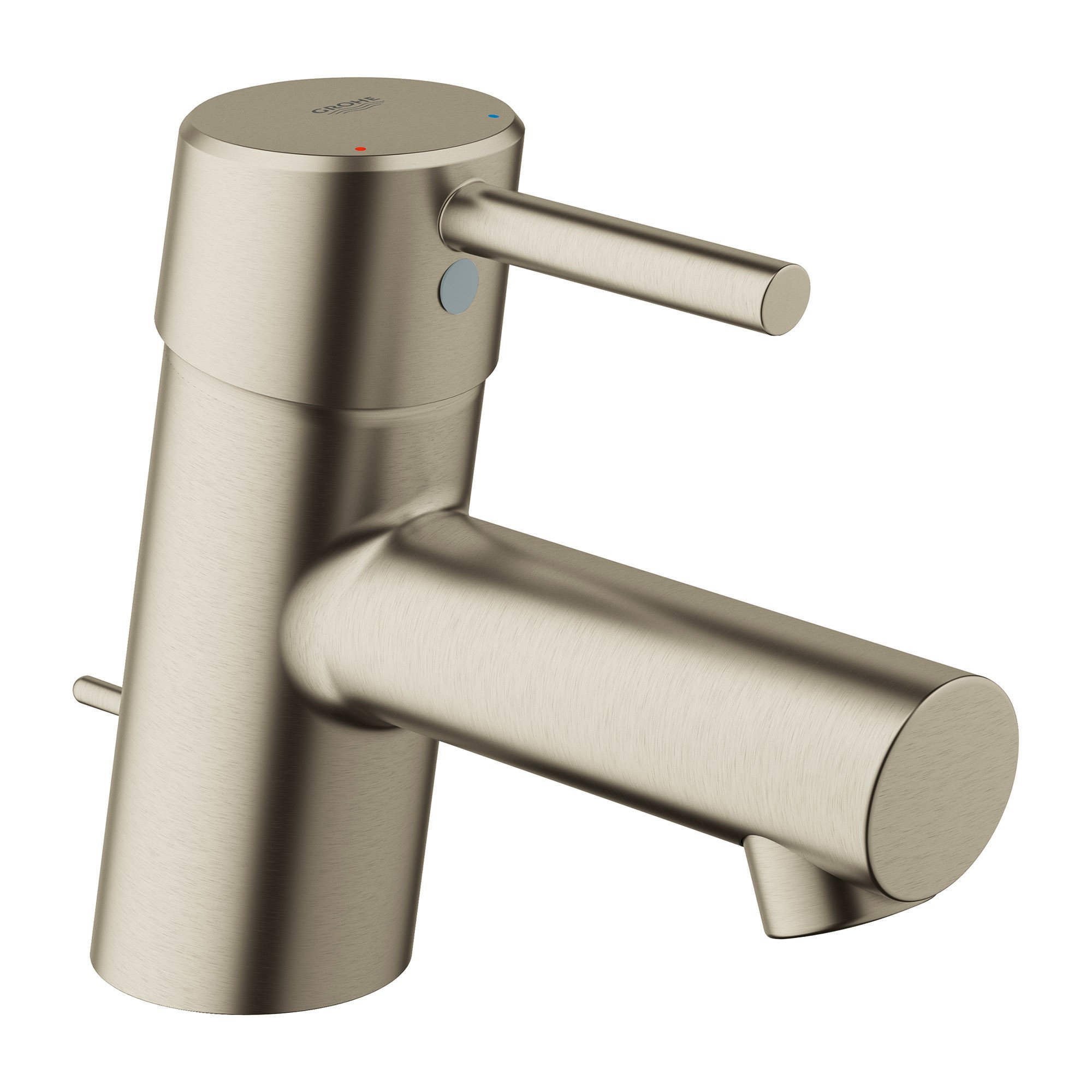 GROHE 34702EN1 Concetto single Hole Single-Handle Bathroom Faucet with Drain Assembly In Brushed Nickel