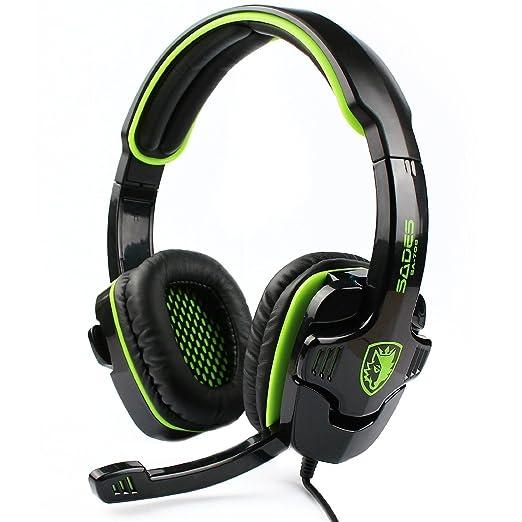 150 opinioni per Sades SA708Cuffie per gaming con jack da 3,5mm e microfono (verde)