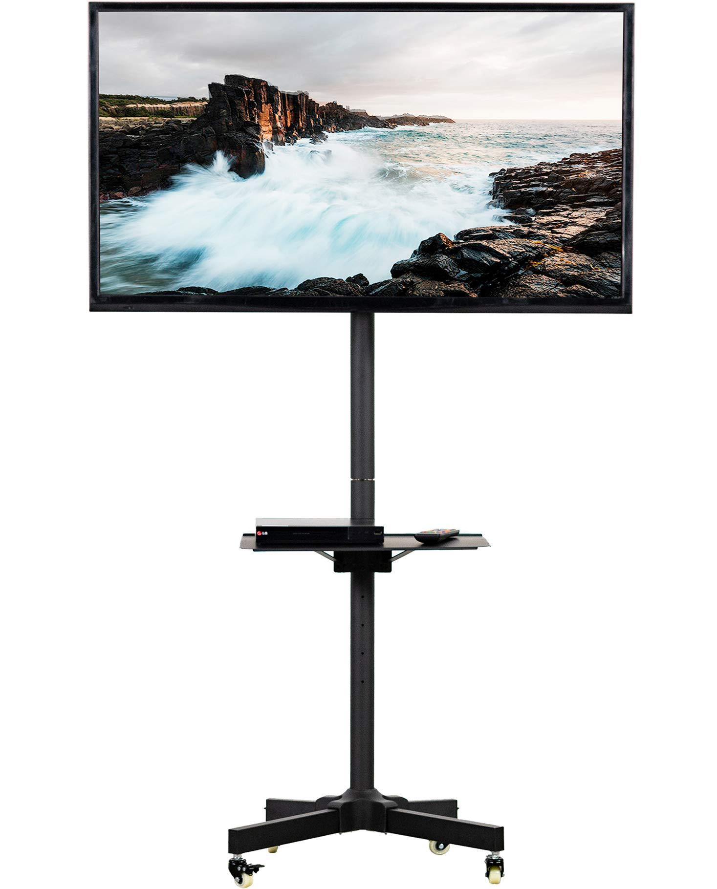 VIVO Mobile TV Cart for 23 to 55 inch LCD LED Plasma Flat Screen Panel | Trolley Floor Stand with Locking Wheels (STAND-TV04M) by VIVO