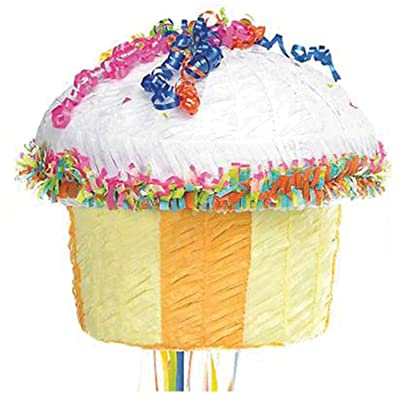 Multicolor Cupcake Pinata: Toys & Games
