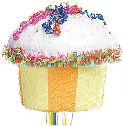 Amazon.com: Multicolor Piñata, diseño de cupcakes: Toys & Games