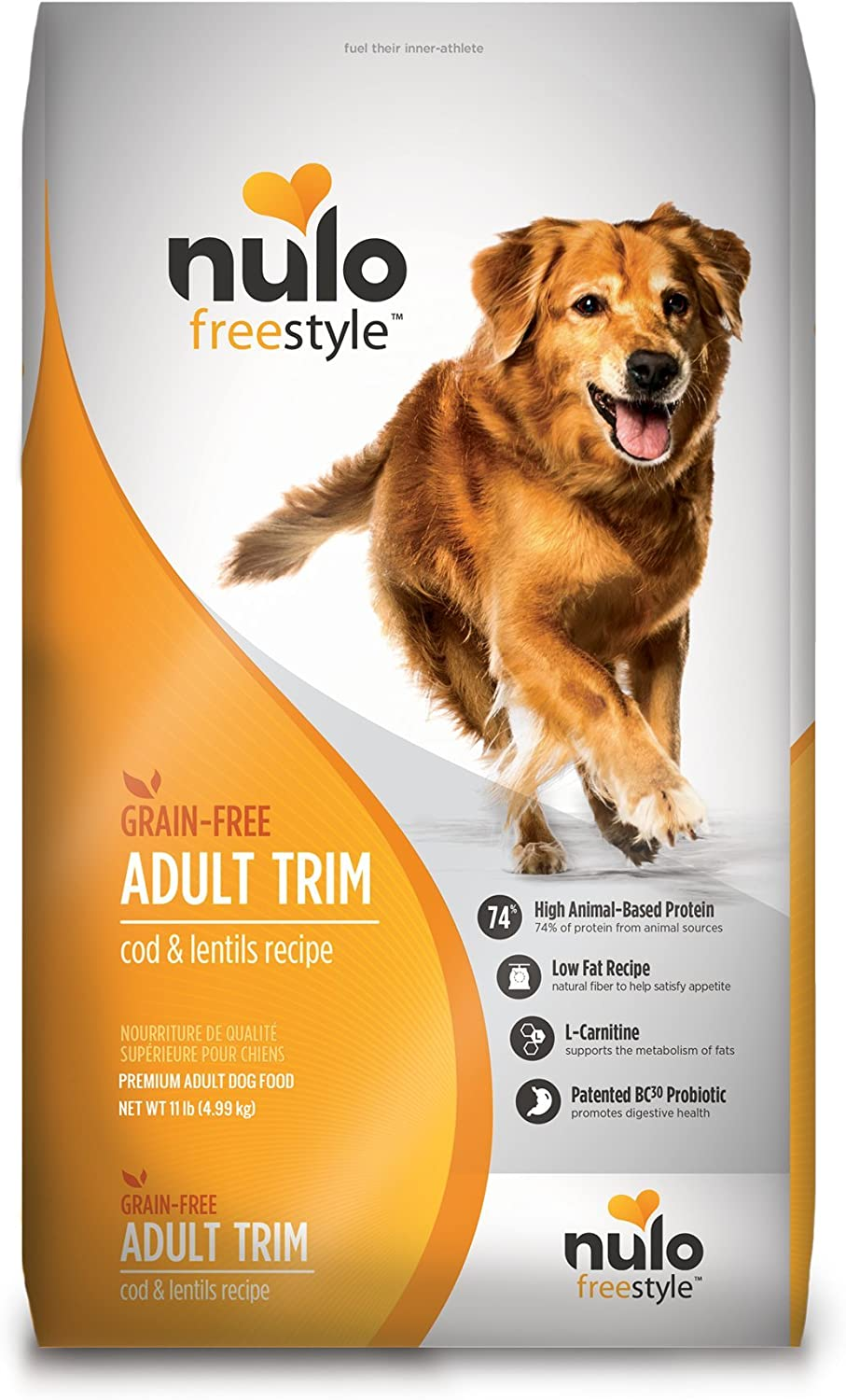Nulo Adult Trim Weight Management Dry Dog Food - Grain Free, Low Carb Kibble Diet Helps Promote Healthy Weight