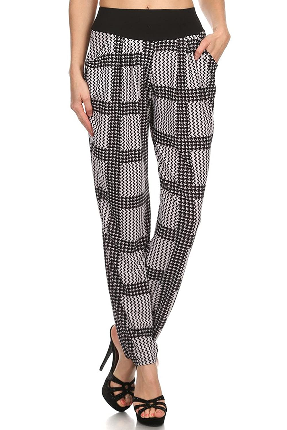 WHITE APPAREL Women's Printed Harem Pants With Side Pockets (Various Styles)