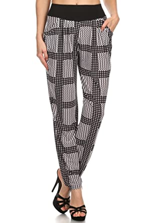 38cdd93a3f7 WHITE APPAREL Women s Printed Harem Pants With Side Pockets (Various Styles)