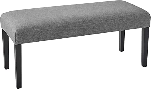 Amazon Brand Ravenna Home Haraden Modern Upholstered Bench, 40 W, Grey