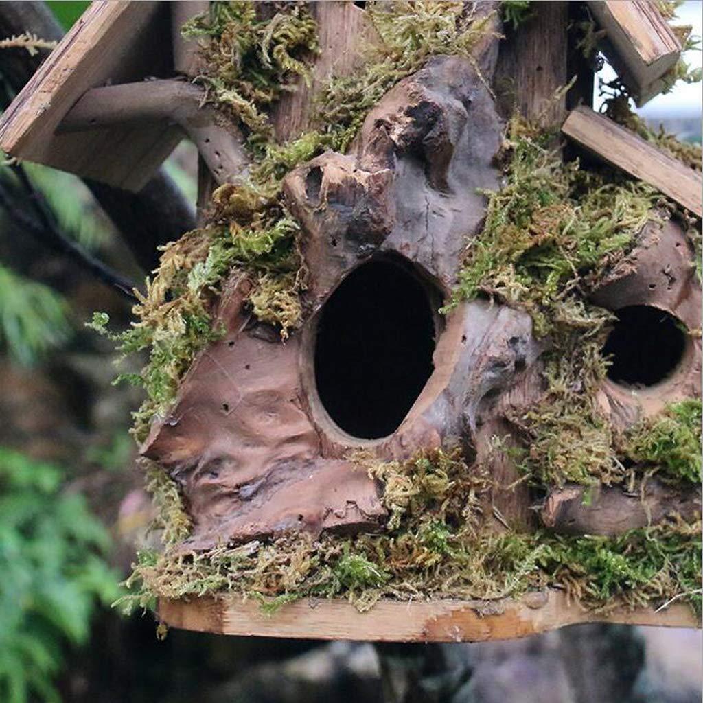 SM SunniMix Comedero De Pájaros De Madera Madera Madera Rústico Casa Accesorio de Motosierra Motores de Jardín - 6 ae2df5
