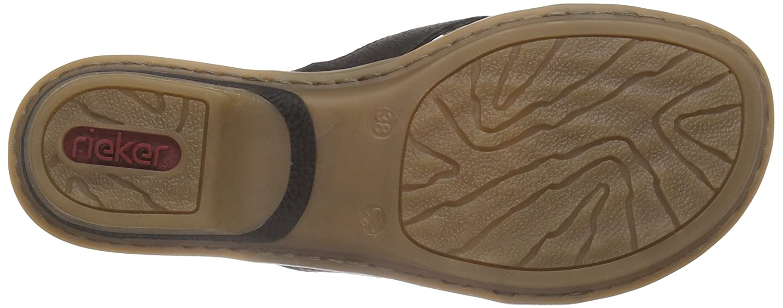 Rieker 63491 Schuhe Damen Zehentrenner Zehentrenner Damen Pantoletten 021d39
