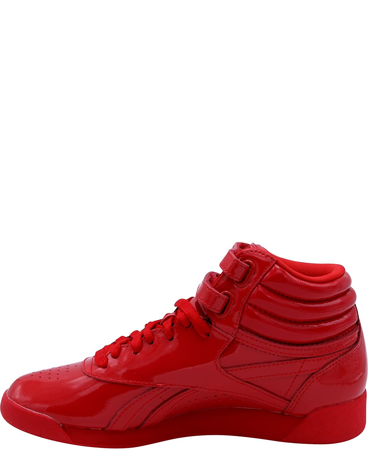 Amazon.com | Reebok Womens Freestyle Hi Patent Sneakers, Red, 7.5 | Walking