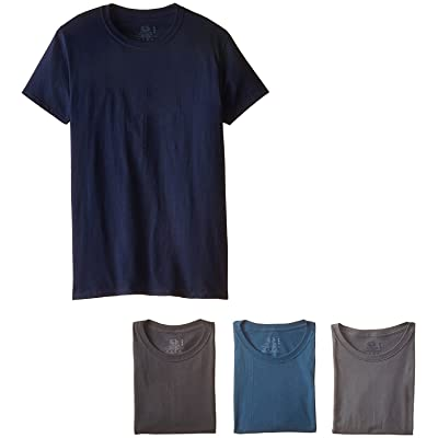 """Fruit of The Loom Men's Crew Neck T-Shirt (Pack of 4) (Assorted, XXX-Large (46""""-48"""" Chest)) at Amazon Men's Clothing store"""
