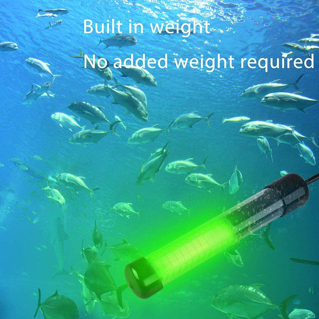 12V LED Glumes Lumens Lure Bait Finder Night Fishing Finder Fishing Light Underwater Fishing Light Boat LED Submersible Underwater Light LED Lure Bait Fish Finder Lamp with Battery Clip