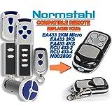 Normstahl EA433 2KM, EA433 2KS, EA433 4KS, RCU433-2K, RCU433-4K, N002800 Compatible Télécommande, 4 canaux 433,92Mhz rolling code remplacement emetteur de haute qualité pour LE MEILLEUR PRIX!!!