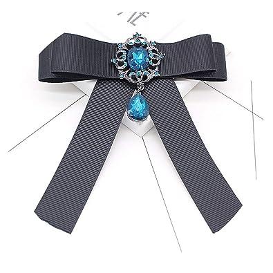 lazo negro broches de la vendimia de la cinta del Bowknot retro ...