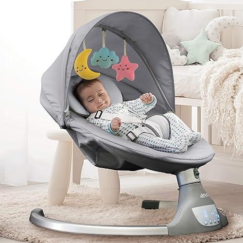 Nova Baby Swing for Infants - Motorized Portable Swing - Best Portable Baby Swings With AC Adapter