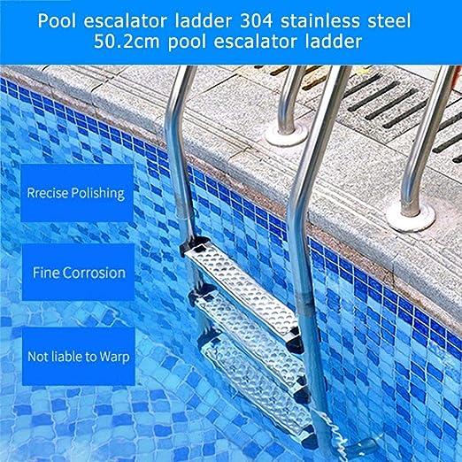 Rlorie Escalera De Acero Inoxidable para Piscinas Pedal De Escalera Mecánica De Piscina Pedal De Acero Inoxidable 304 Escalera De Piscina masterwork: Amazon.es: Hogar