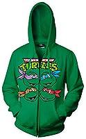 Teenage Mutant Ninja Turtles Faces Men's Green Hooded Sweatshirt