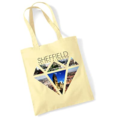 Tote Bags For Women Sheffield Diamond Printed Cotton Shopper Bag Gifts   Amazon.co.uk  Shoes   Bags a199a80e68